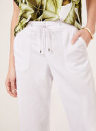 Modern Fit Linen Blend Pants, White, hi-res