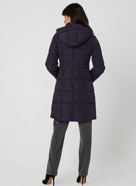 Manteau matelassé à capuchon , Violet, hi-res