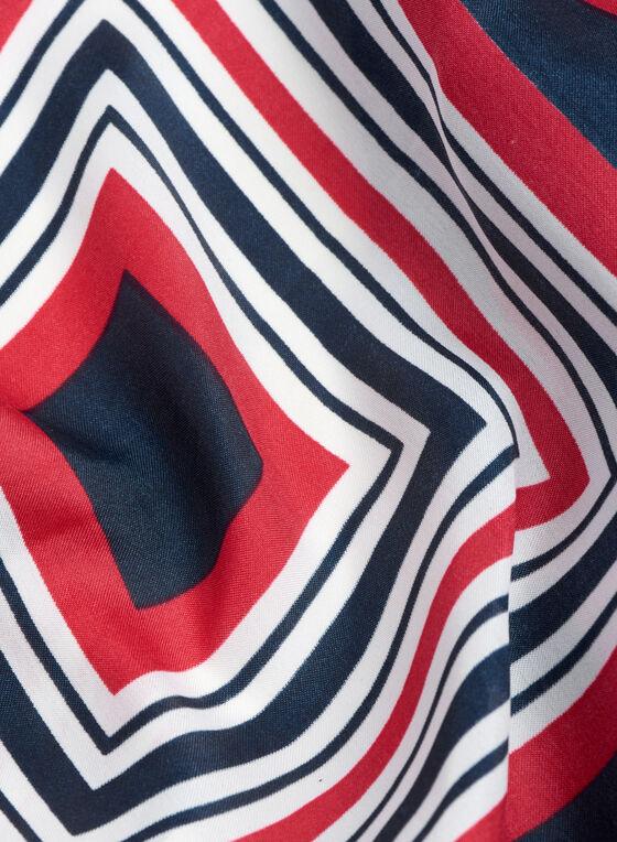 Foulard carré à rayures esprit marin, Bleu, hi-res