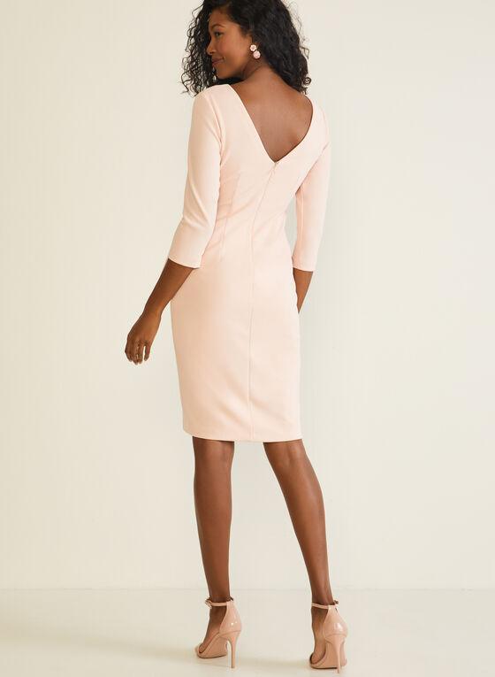 Tie Detail Sheath Dress, Pink
