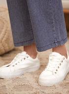 Charlie B - Striped Wide Leg Jeans, Blue