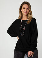 Made in Italy - Dolman Sleeve Sweater, Black, hi-res