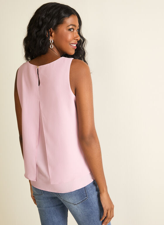 Sleeveless Crepe Blouse , Purple