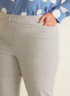 Pantalon coupe cité motif tartan, Gris