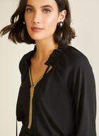 Embellished Collar Blouse, Black