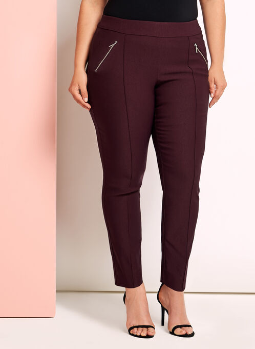 City Fit Straight Leg 7/8 Pants, Red, hi-res