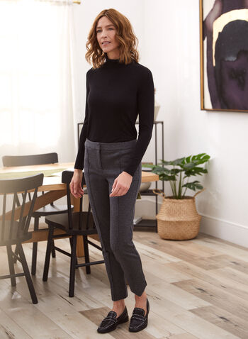 Pleated Mock Neck Sweater, Black,  sweater, long sleeves, mock neck, fall winter 2020