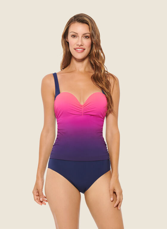 Christina - Ombre Print One-Piece Swimsuit, Pink