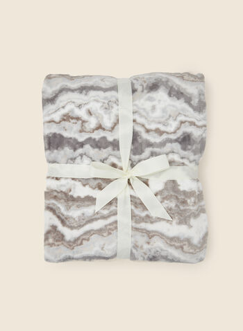 Marble Print Blanket, Grey,  fall winter 2020, blanket, gift, holidays, holidays 2020