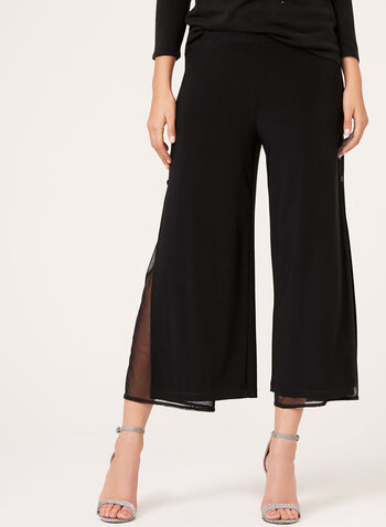 Picadilly - Double Layer Mesh Culottes, Black, hi-res