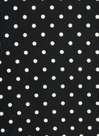 Polka Dot Lightweight Scarf, Black