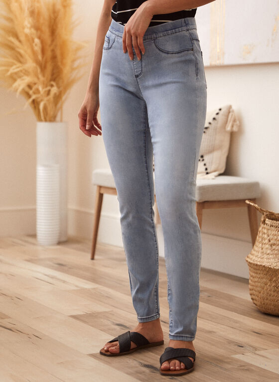 Charlie B - Pull-On Jeans, Blue