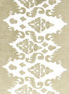 Damask Burnout Print Shawl, Off White, hi-res