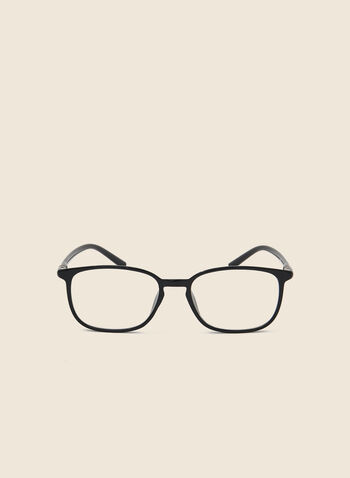 Rectangle Plastic Reading Glasses, Black,  glasses, reading glasses, rectangle glasses, coloured glasses, spring 2020, summer 2020