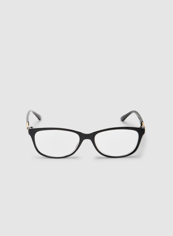Oval Reading Glasses, Black