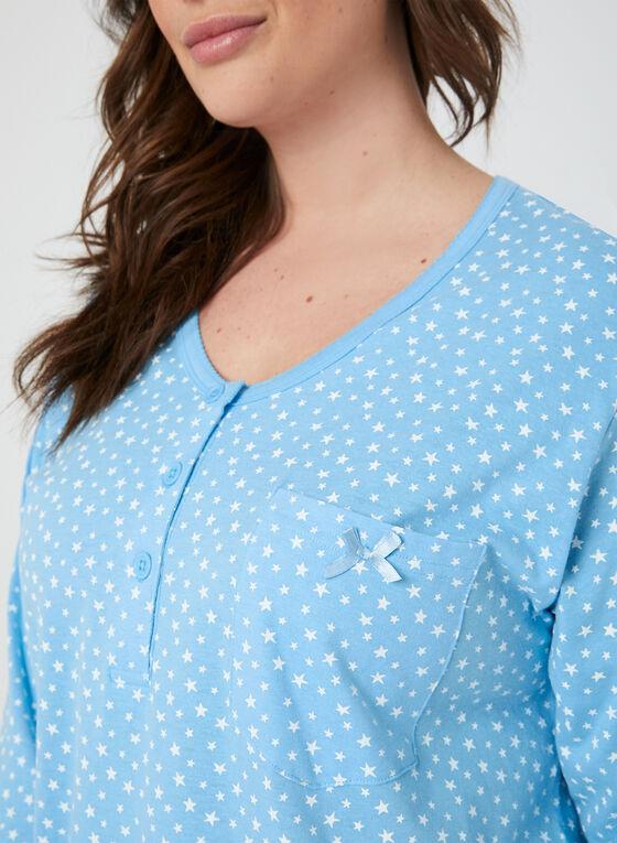 Bellina - Chemise de nuit étoilée, Bleu, hi-res