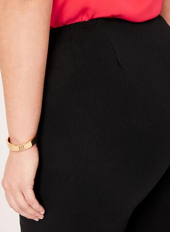 Louben - Pantalon coupe moderne à jambe droite, Noir, hi-res