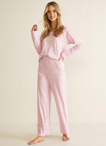 Confetti Print Pyjama Set, Multi,  pyjama, set, 2-piece, confetti, v-neck, fall winter 2020