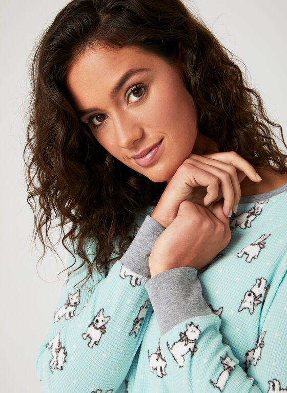 Pillow Talk - Henley Nightgown, Grey, hi-res