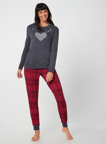 Midnight Maddie - Pyjama Set, Grey, hi-res,  Midnight Maddie, sleepwear, pyjama, fall 2019, winter 2019