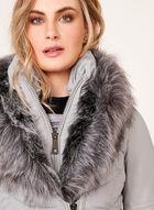Ellabee - Manteau matelassé avec manches en similicuir, Gris, hi-res