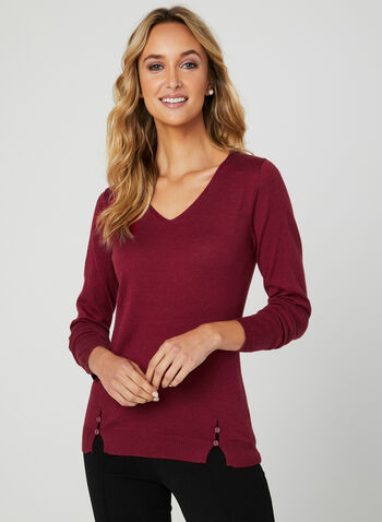 Vex - Cashmere Blend Sweater, Red, hi-res