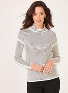 Elena Wang - Cowl Neck Sweater, White, hi-res