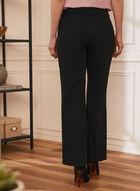 Louben - Pleated Straight Leg Pants, Black