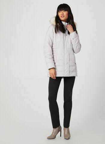 Faux Fur Matte Coat, Silver,  coat, long sleeves, fake fur, matte coat, lightweight, winter coat, fall 2019, winter 2019