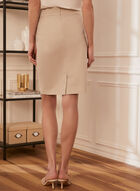 Straight Fit Pencil Skirt, Off White