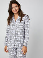 Pillow Talk - Pyjama 2 pièces motif chat, Gris