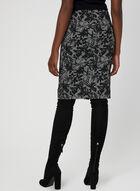 Houndstooth Knit Skirt, Black, hi-res