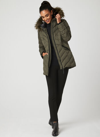 Novelti – Reflective Quilted Down Coat, Green, hi-res
