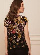 Tropical Print Short Sleeve Top, Multi