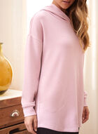 Long Sleeve Hooded Sweater, Pink