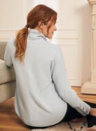 Button Detail Sweater Knit Top, Blue