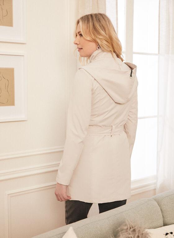 Novelti - Manteau à capuchon et ceinture, Blanc cassé