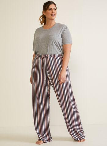 Abstract Print Pyjama Pants, Brown,  pyjama, fall winter 2020, pants