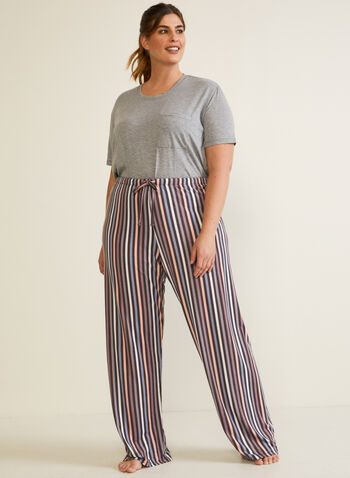 Bas de pyjama à motif, Brun,  automne hiver 2020, pyjama, pantalon