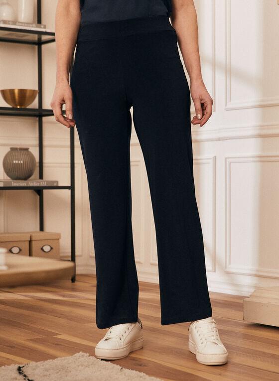 Pantalon coupe moderne à jambe large, Bleu