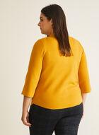 3/4 Sleeve Mock Neck Cardigan, Yellow