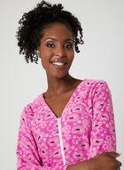 Sandra & Tiffany - Front Zipper Fleece Nightgown, Pink, hi-res