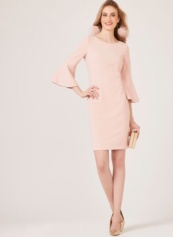 Jessica Howard - Crepe Pencil Dress, Pink, hi-res