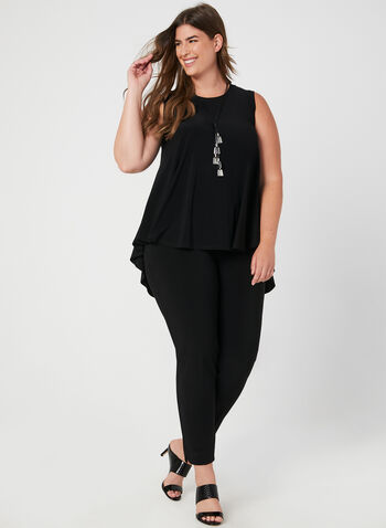 Joseph Ribkoff - Sleeveless Jersey Top, Black, hi-res