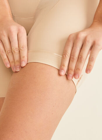Naomi & Nicole - High-Waist Cooling Shapewear, Off White,  shapewear, undergarment, mesh insert, high-waist, sculpting