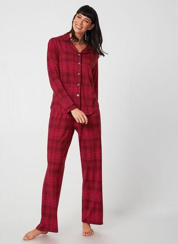 Midnight Maddie - Pyjama Set, Red,  Midnight Maddie, sleepwear, pyjama, fall 2019, winter 2019