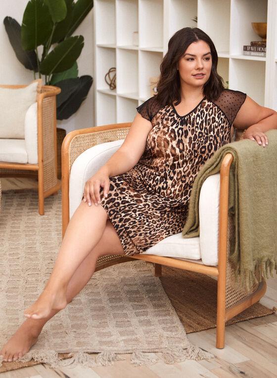 Leopard Print Nightgown , Brown
