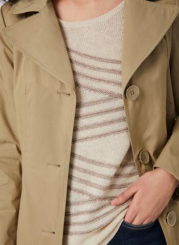 Alison Sheri - ¾ Sleeve Knit Top, White, hi-res