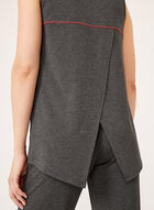 Capelet Back Sleeveless Top , Grey, hi-res