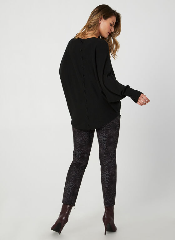 Made in Italy - Dolman Sleeve Sweater, Black